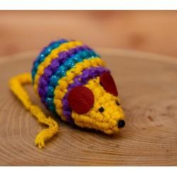 Szałmyszka - szydełkowa myszka z walerianą