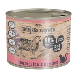 Wiejska Zagroda kot Jagnięcina z krylem 200g