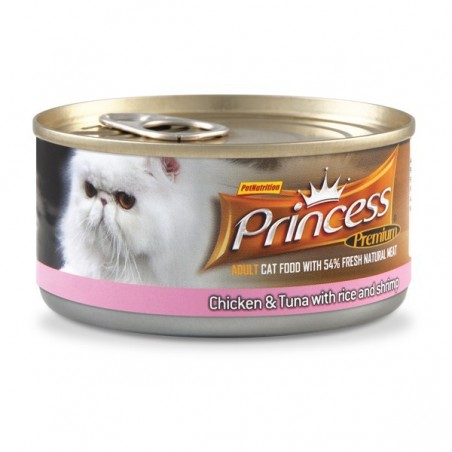 Princess Premium Cat - puszka (tuńczyk, ryż, krewetki)