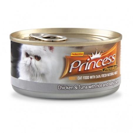 Princess Premium Puszka Kurczak, Tuńczyk, Małże