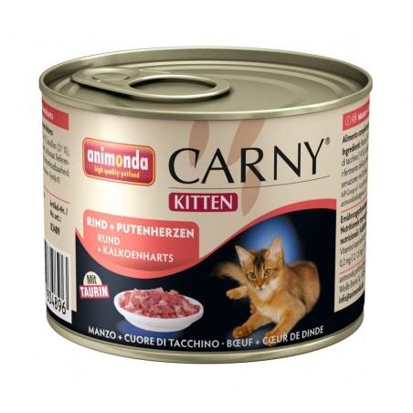 Animonda Carny Kitten Wołowina i serca indycze